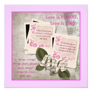 El amor es tarjeta cuadrada buena invitación 13,3 cm x 13,3cm