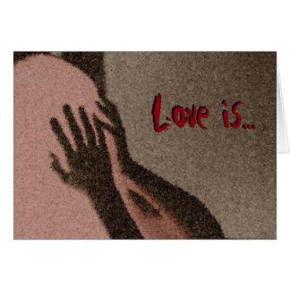 el amor es tarjeta de felicitación