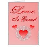 El amor es tarjeta magnífica