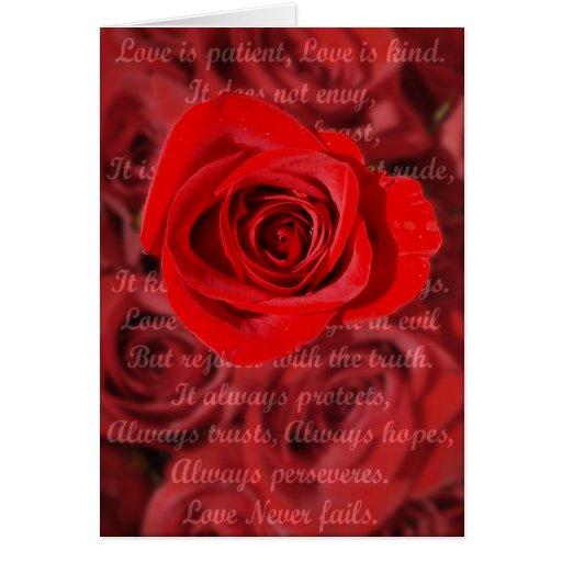 El amor es tarjeta paciente del verso