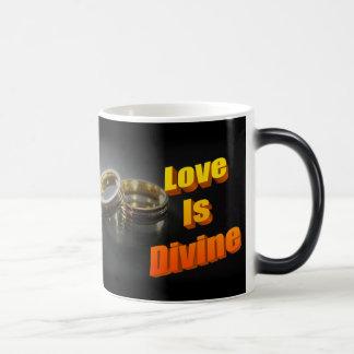 El amor es taza sensible al calor divina del