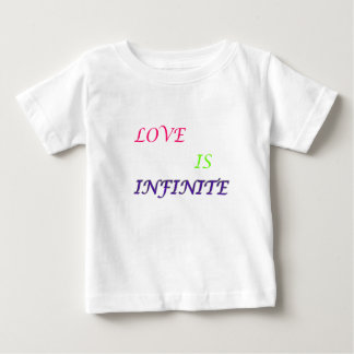 El amor es texto del infinito-color playera de bebé