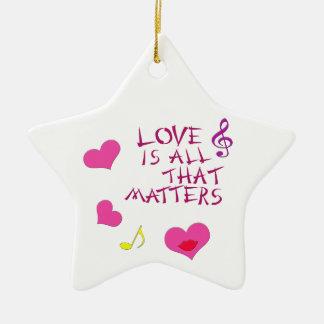 El amor es todo ese las materias adorno de cerámica en forma de estrella