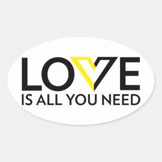El amor es todo lo que usted necesita al pegatina