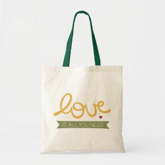 el amor es todo lo que usted necesita bolsa