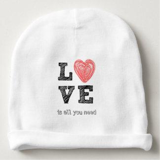 El amor es todo lo que usted necesita cita gorrito para bebe