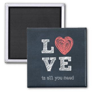 El amor es todo lo que usted necesita cita imán cuadrado