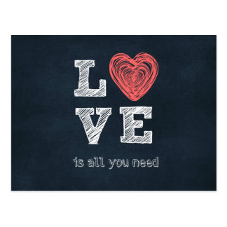 El amor es todo lo que usted necesita cita tarjeta postal