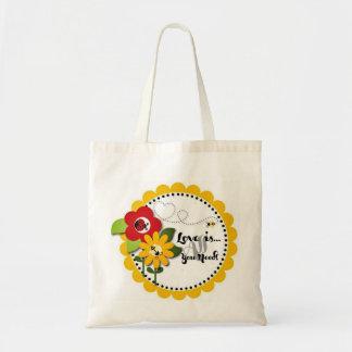 El amor es todo lo que usted necesita el bolso ado bolsa de mano