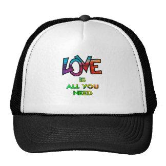 El amor es todo lo que usted necesita gorra