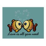 el amor es todo lo que usted necesita tarjeta postal