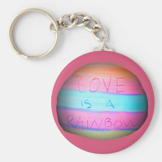 El amor es un arco iris 'arte de Tookii' Llavero Redondo Tipo Pin