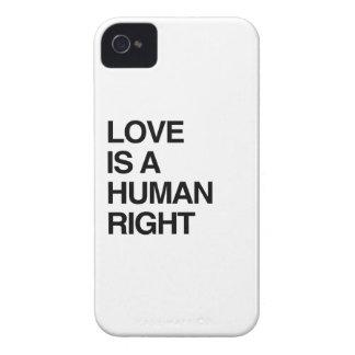 EL AMOR ES UN DERECHO HUMANO Case-Mate iPhone 4 CÁRCASAS