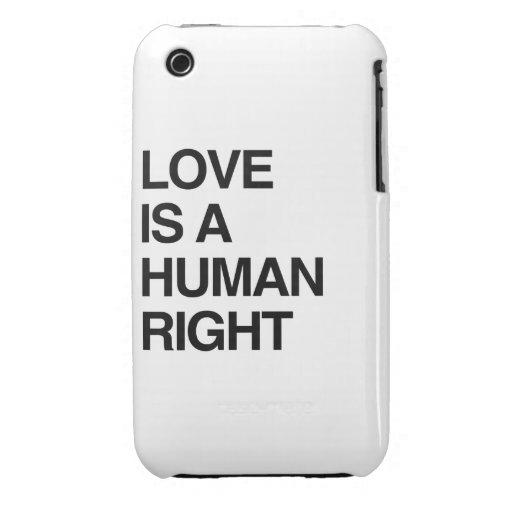 EL AMOR ES UN DERECHO HUMANO iPhone 3 CARCASA