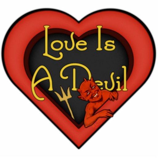 El amor es un diablo pin fotoescultura