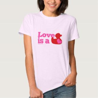 El amor es un pato de goma (Girlie) Playeras