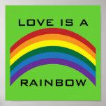 El amor es un poster del arco iris