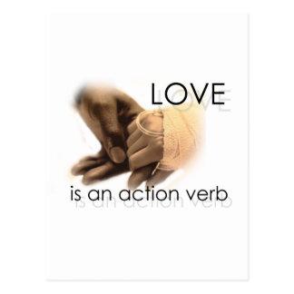 El amor es un verbo de la acción postal