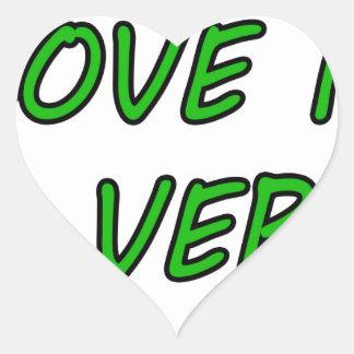 El amor es un verbo pegatina en forma de corazón