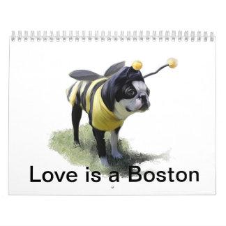 El amor es una Boston Calendario De Pared