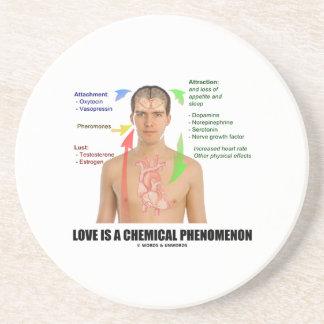 El amor es una fisiología del fenómeno químico posavasos cerveza