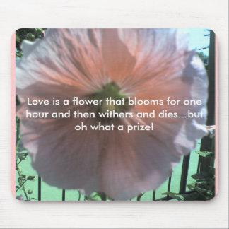 El amor es una flor esa las floraciones para una h tapetes de raton