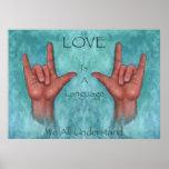 El amor es una lengua nosotros que todo entiende l poster