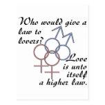 El amor es una ley más alta postal