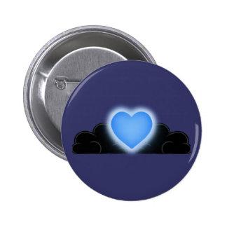 El amor es una luz en la oscuridad - corazón azul
