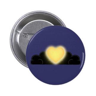 El amor es una luz en la oscuridad - corazón pins