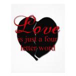 El amor es una palabra de cuatro letras membretes personalizados