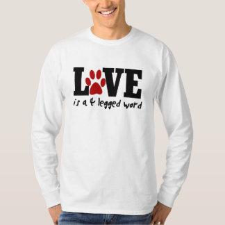 El amor es una palabra legged 4 playera
