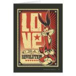 El amor es una revolución tarjeta de felicitación