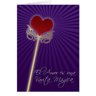 El amor es una varita mágica card