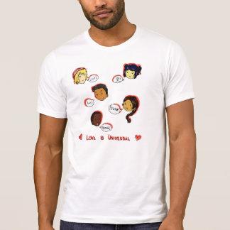 El amor es universal - camiseta del cuello barco