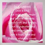 El amor es usted póster