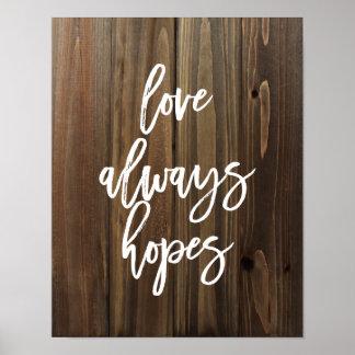 El amor espera siempre en el falso poster de