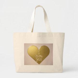 El amor está en el aire bolsa de tela grande