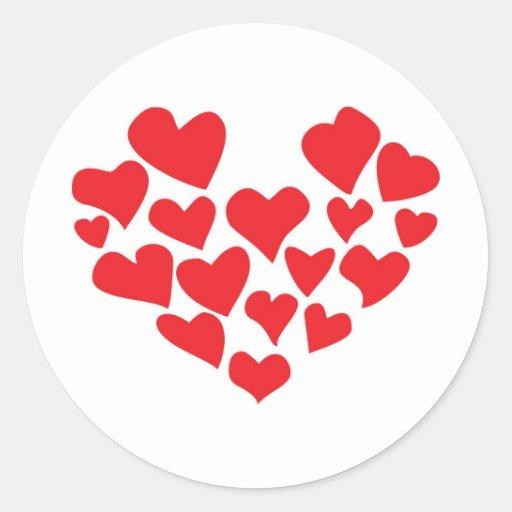 ¡el amor está en el aire! etiqueta redonda