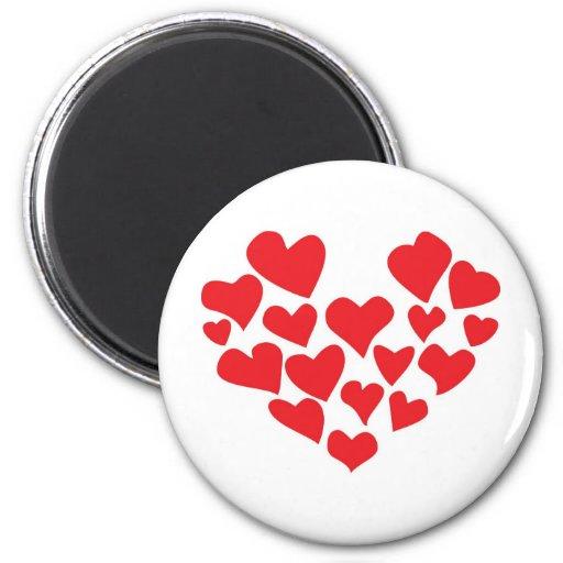 ¡el amor está en el aire! imán redondo 5 cm