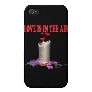 El amor está en el aire iPhone 4 funda