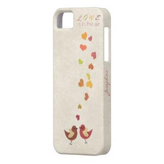 El amor está en el aire iPhone 5 carcasas