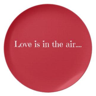 El amor está en el aire plato para fiesta