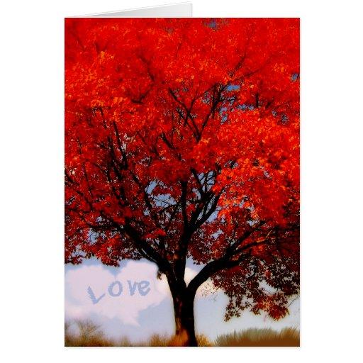 El amor está en el aire… tarjeta de felicitación