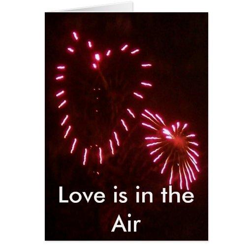 el amor está en el aire tarjeta de felicitación
