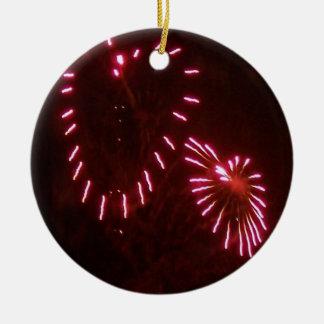 el amor está en el ornamento del aire adorno navideño redondo de cerámica