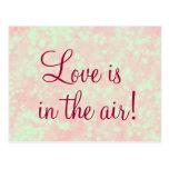 El amor está en la cita del aire tarjetas postales