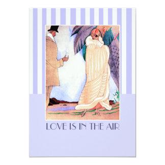 El amor está en la invitación del fiesta del día