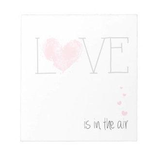 El amor está en la libreta del aire libreta para notas