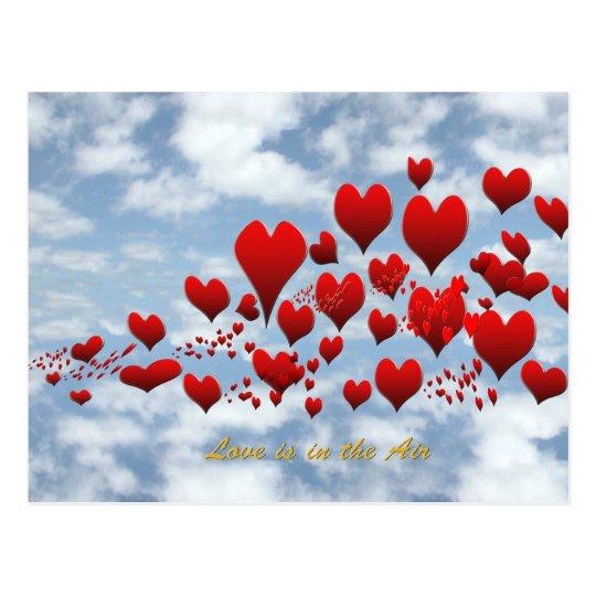 el amor está en la postal del aire